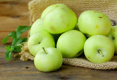 Natural delicious organic apples Stock Image
