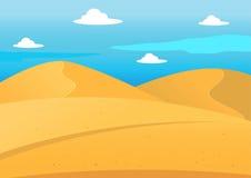 Natural Desert Landscape Background Stock Photos