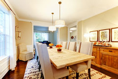 Natural design home dining room. Stock Photos