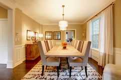 Natural design home dining room. Royalty Free Stock Photo