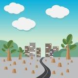 Natural destructive. Natural destructive,eco, Vector illustration Stock Photo