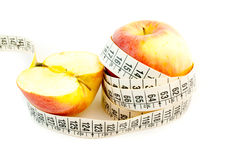 Natural diet with apple Stock Images