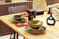 Natural dinning table Royalty Free Stock Photography