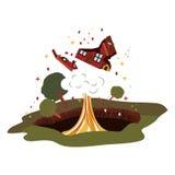 Natural disaster design Royalty Free Stock Image
