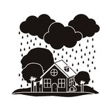 Natural disaster design Stock Photography