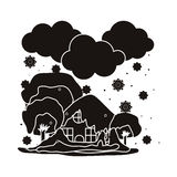Natural disaster design Stock Images