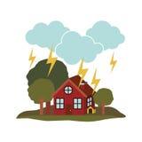 Natural disaster design Stock Image
