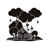 Natural disaster design Stock Photos