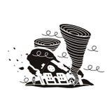 Natural disaster design Stock Photo