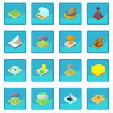 Natural disaster icon blue app Royalty Free Stock Photos