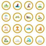 Natural disaster icon circle Royalty Free Stock Photos