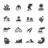 Natural Disaster Icons Stock Photography