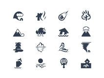 Natural disaster icons Royalty Free Stock Images