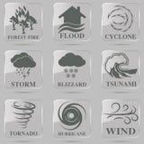 Natural disaster icons set Royalty Free Stock Photography
