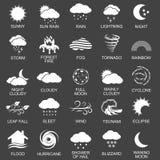 Natural disaster icons set Stock Photos