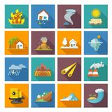 Natural Disaster Icons Royalty Free Stock Image