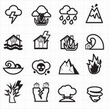 Natural disaster icons vector Royalty Free Stock Images