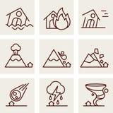 Natural Disaster Icons Royalty Free Stock Image