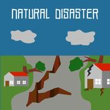 Natural Disaster Illustration Vector Art Logo Template. Simple and unique Natural Disaster Illustration for various purposes, for best use Royalty Free Stock Photos
