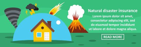 Natural disaster insurance banner horizontal concept Stock Photo