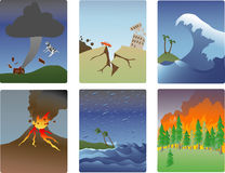 Natural disaster miniatures royalty free illustration