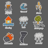 Natural disaster objects Stock Photos