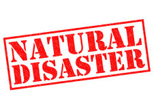 NATURAL DISASTER. Red Rubber Stamp over a white background Royalty Free Stock Photography