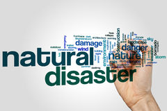 Natural disaster word cloud Royalty Free Stock Images