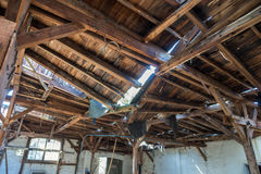 Natural disasters Damage to the roof chair Royalty Free Stock Photos