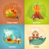 Natural Disasters Design Concept Stock Photo