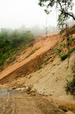 Natural disasters, landslides during the rainy season in Thailand Royalty Free Stock Images