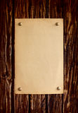 Natural distressed  wooden board with paper Royalty Free Stock Photos