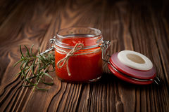 Natural diy chilli sauce sriracha Stock Image