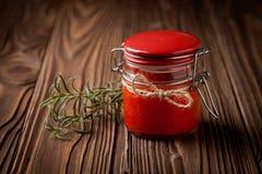 Natural diy chilli sauce sriracha Stock Photography