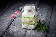 Natural diy crystal bath salt Royalty Free Stock Image