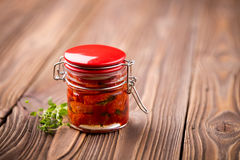 Natural diy home dried tomatoes Royalty Free Stock Image