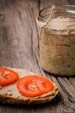 Natural diy homemade lentil paste Royalty Free Stock Image