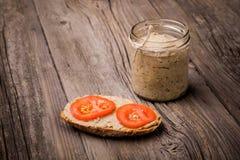 Natural diy homemade lentil paste Royalty Free Stock Photos