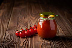Natural diy tomato chutney with chilli Royalty Free Stock Photography