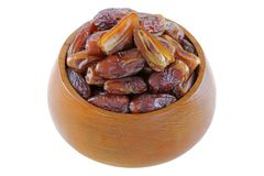 Natural dried Deglet Nour dates Stock Photography