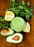 Natural drink a smoothie with avocado Stock Image