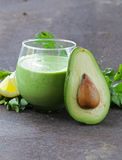 Natural drink a smoothie with avocado Stock Images