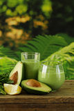Natural drink a smoothie with avocado Royalty Free Stock Photography