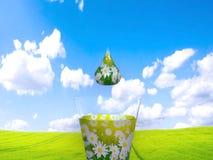 Natural drop, 3d render Stock Images