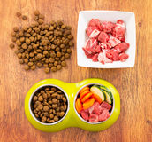 Natural and dry dog's food royalty free stock images