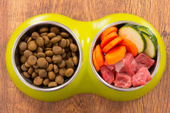 Natural and dry dog's food Stock Images
