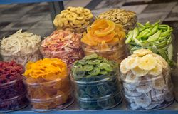 Natural Dry fruit sell in market royalty free stock photo