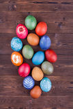 Natural dyed easter eggs Stock Photography