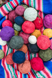 Natural dyed wool yarn peruvian Andes  Cuzco Peru Stock Photography