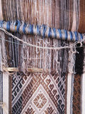 Natural dyed wool yarn in the peruvian Andes at Cuzco royalty free stock photos